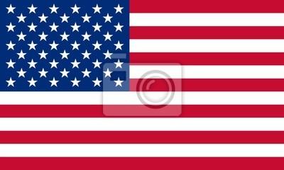 Posters USA Fahne etats unis diminuent