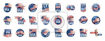 Posters USA flag, vector illustration on a white background