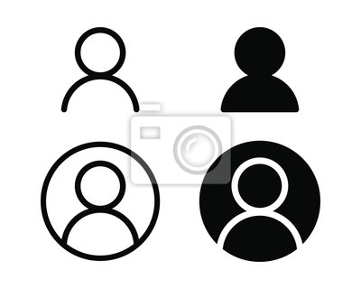 Posters User profile login or access authentication icon vector illustration image.