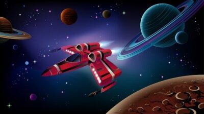 Posters Vaisseau spatial, planètes et l'espace.