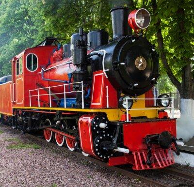 Posters Vapeur, locomotive, souffler, dehors, vapeur