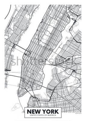 Posters Vecteur carte affiche ville de New York