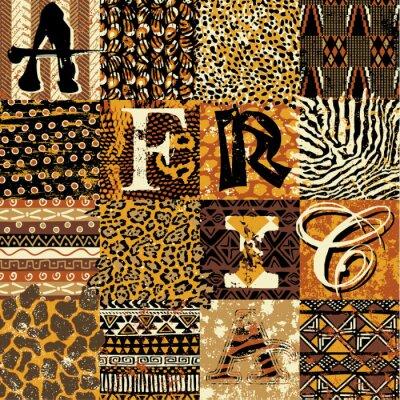 Posters Vecteur papier de style africain