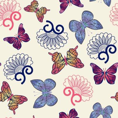 Posters Vecteur, papillons, modèle.