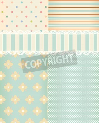 Posters Vector background in style shabby chic