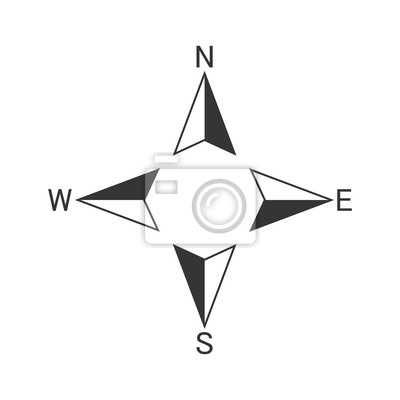Posters Vector Compass icon.
