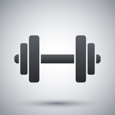 Posters Vector dumbbell icon