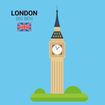 Posters Vector illustration de Big Ben (Londres, Royaume-Uni). Monuments et monuments Collection. Fichier EPS 10 compatible et éditable.