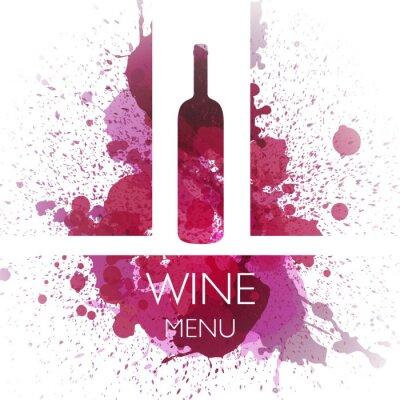 Posters Vector Illustration de la conception vin Template