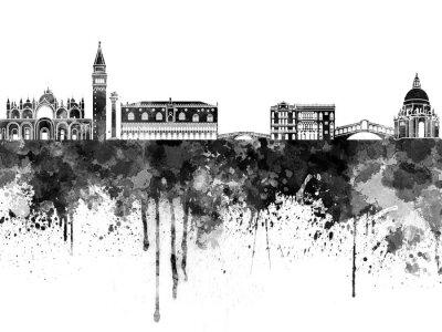 Posters Venise, Horizon, noir, aquarelle