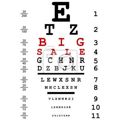 Vente de grande publicité à l'essai d'oeil optique utilisé par les médecins