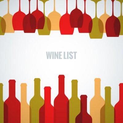 Posters verre de vin art de la bouteille fond