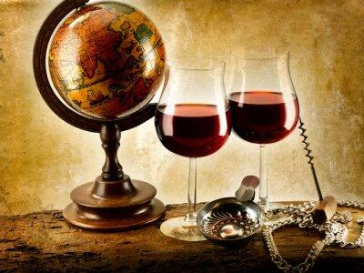 Posters verres de vin rouge