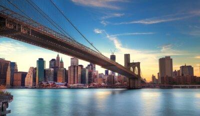 Posters Vers Pont de Brooklyn à Manhattan, New York.