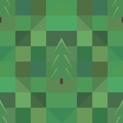 Posters Vert, carré, modèle, beaucoup, Arbres, fond