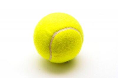 Posters verte balle de tennis sur fond blanc