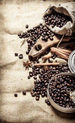 Posters Vieil style de café.