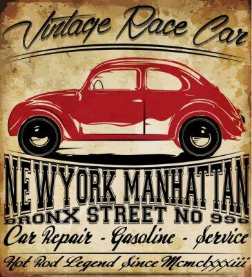 Posters Vieille voiture vintage classique rétro T-shirt homme Design graphique