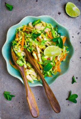 Posters Vietnamese cabbage salad.