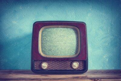Posters Vieux, vendange, tv, bois, cas