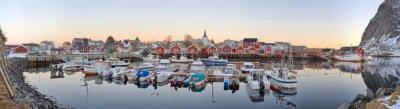 Posters villages de pêcheurs en Norvège