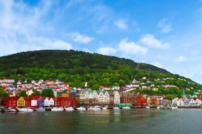 Posters ville de Bergen, Norvège