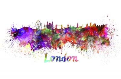 Posters Ville de Londres à l'aquarelle