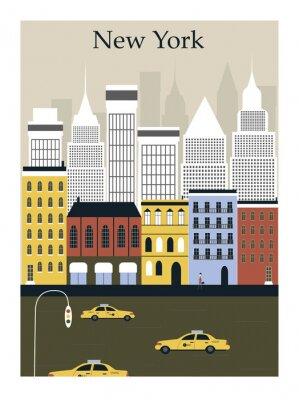 Posters Ville de New York. Vecteur