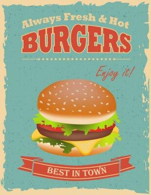 Posters Vintage Burgers poster