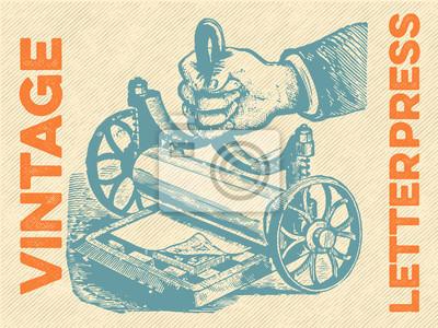 Posters Vintage letterpress Vector