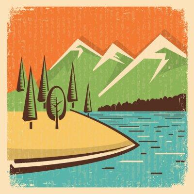 Posters Vintage Nature mountains landscape