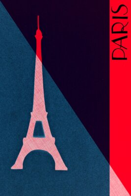 Posters Vintage Paris postal - calligraphie - main-lettered design elemen
