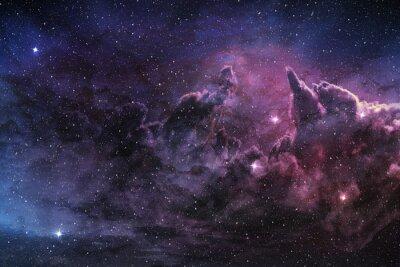 Posters Violet, nébuleuse, cosmique, poussière, étoile, champ