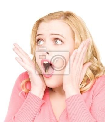 visage de femme surpris