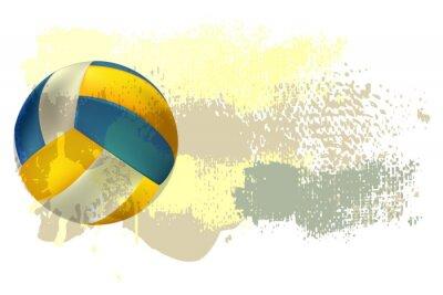 Posters Volley-ball Bannière tous les éléments sont dans des couches séparées et regroupées.