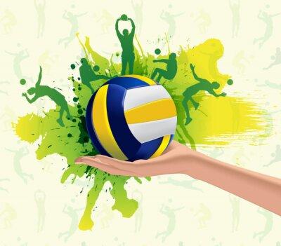 Posters Volley-ball de conception de fond