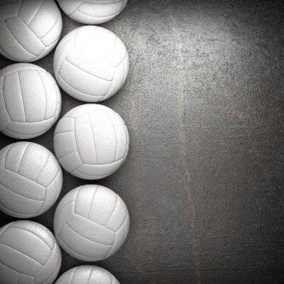 Posters Volley ball et le mur de fond en métal