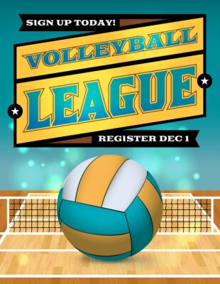 Posters Volley-ball Ligue Flyer Illustration
