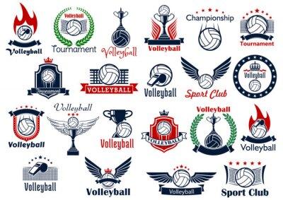 Posters Volleyball icônes et symboles de jeu de sport