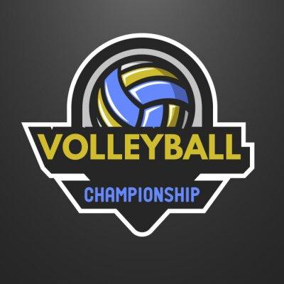 Posters Volleyball logo, étiquette, emblème.