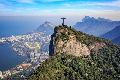 Posters Vue aérienne du Christ Rédempteur et de la ville de Rio de Janeiro