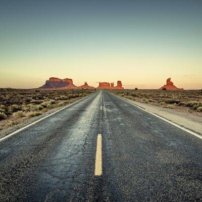 Posters Vue de la route de Monument Valley