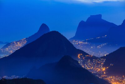 Posters Vue de nuit de Rio de Janeiro