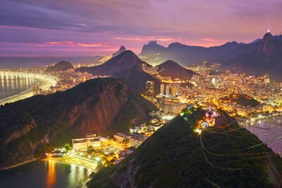 Posters Vue de nuit de Rio de Janeiro, Brésil
