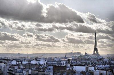 Vue depuis les toits de Paris - Tour Eiffel