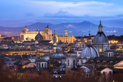 Posters Vue des toits de Rome