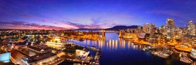 Vue du port de Vancouver
