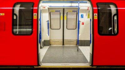 Posters Vue intérieure du métro de Londres, la station de métro