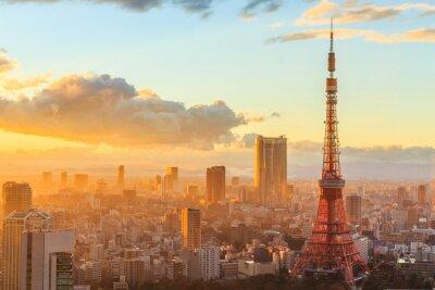 Posters vue panoramique sur Osaka depuis le dernier étage du plus haut bâtiment
