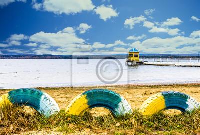 Vue suggestive du lac Tavatui, Russie